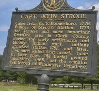 <h2>Marker 1047</h2><p>Captain John Strode<br>Marker 1047<br>County: Clark<br>Location: 1 mile West of Winchester, US 60<br>Photographed by Sharla Gross<br></p>