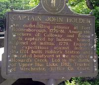 <h2>Marker 1048</h2><p>Captain John Holder<br>Marker 1048<br>County: Clark<br>Location: Athens-Boonesboro Road, Howard's Creek<br>Photographed by Sharla Gross <br></p>