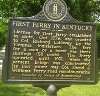 <h2>Marker 1578 (Front)</h2><p>First Ferry In Kentucky<br>Marker 1578 (Front)<br>County: Madison<br>Location: Approximate 500 feet North of Main Entrance to <br>Fort Boonesborough State Park, KY 388<br>Photographed by Sharla Gross<br></p>