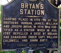 <h2>Marker 21</h2><p>Bryan's Station<br>Marker 21<br>County: Fayette<br>Location: 5 miles North of Lexington, Bryan Station Pike<br>Photographed by Sharla Gross<br></p>