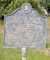 <h2>Marker 135 </h2><p>Choctaw Indian Academy1825-1843 - 2 MilesMarker 135County: ScottLocation: Georgetown, US 460, near Junction US 227Description: The U.S. Government established atBlue Springs Farm, home of Vice President R. M. Johnson, its first Indian school for sons of Indian Chiefs. Future leaders of many tribes were educated here.Photographed by Wahiya<br></p>