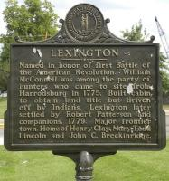 <h2>Marker 136 </h2><p>LexingtonMarker 136County: FayetteLocation: In front of Cardinal Hill Hospital, Versailles Road, LexingtonDescription:  (Duplicate markers in front of Zandale Shopping Center, Nicholasville Road, US 27, and approximately 1 1/2 miles NE of New Circle Road & Paris Pike, US 27, Fayette Co.) Named in honor of first Battle of the American Revolution.William McConnell was among the party of hunters who came to site from Harrodsburg in 1775.Built cabin to obtain land title but driven off by Indians.Lexington later settled by Robert Patterson and companions,1779. Major frontier town. Home of Henry Clay, Mary Todd Lincoln,and John C. Breckinridge.Photographed by Wahiya<br></p>