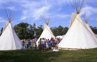 <h2>Three Tipi 2 </h2><p>Tipi at the Jacobson Park Pow Wow.<br></p>
