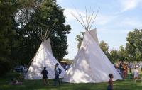 <h2>Two Tipi 1 </h2><p>Tipi at the Jacobson Park Pow Wow.<br></p>