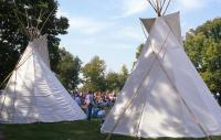<h2>Two Tipi 2 </h2><p>Tipi at the Jacobson Park Pow Wow.<br></p>