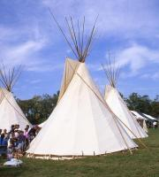 <h2>Three Tipi 3 </h2><p>Tipi at the Jacobson Park Pow Wow.<br></p>