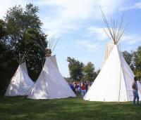 <h2>Three Tipi 4 </h2><p>Tipi at the Jacobson Park Pow Wow.<br></p>