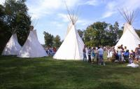 <h2>Four Tipi 1 </h2><p>Tipi at the Jacobson Park Pow Wow.<br></p>