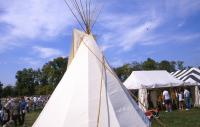 <h2>Tipi 3 </h2><p>Tipi at the Jacobson Park Pow Wow.<br></p>