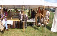 <h2>Vendor's Tent 1 </h2><p>Vendor's tent at the Jacobson Park Pow Wow.<br></p>