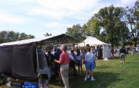 <h2>Vendor's Tent 3 </h2><p>Vendor's tent at the Jacobson Park Pow Wow.<br></p>