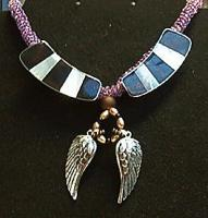 <h2>Siver Winged Necklace