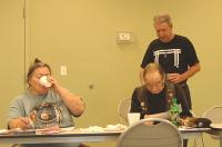 <h2>Members At The February Meeting </h2><p>Feb. 8, 2009Photography by WahiyaLeft: Penny CookRight: Frank CookStanding Right: 2 Feather<br></p>