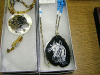 <h2>Painted Necklaces 13 </h2><p>April 5, 2009Photography by Awahili<br></p>