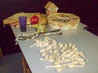 <h2>Rattle Decorating Table
