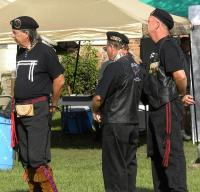 <h2>Members of OVNAVWS Honor Guard </h2><p>September 27, 2009Photography by WahiyaJerry 2 Feather Thornton,Gary Buffalo Heart Givans, &Mike Eagle Heart Dunn<br></p>