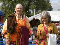 <h2>Ann Buffalo Woman Foreman & Dottie Blue Snow Flower Gaddie </h2><p>October 10, 2009 Photography by Wahiya</p>