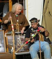 <h2>Joyce Ann White Wolf Fisher & Paul Barbour </h2><p>October 10, 2009 Photography by Wahiya</p>
